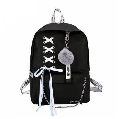 Girls Punk Lace-Up School Backpack