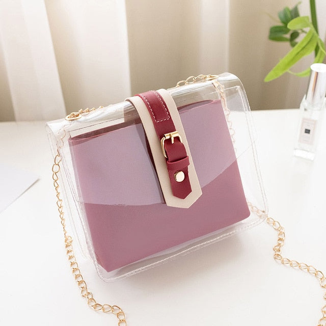 Women's Clear Casual Vinyl Crossbody Shoulder Bag