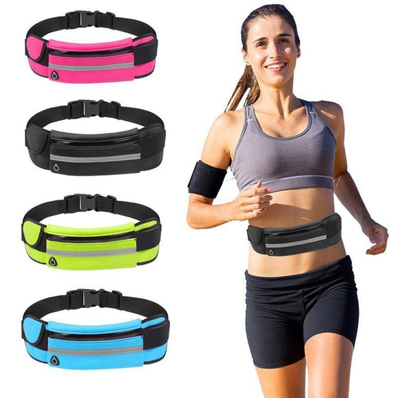 Running Slim Exercise Sports Waist Pack w/ Headphone Slot