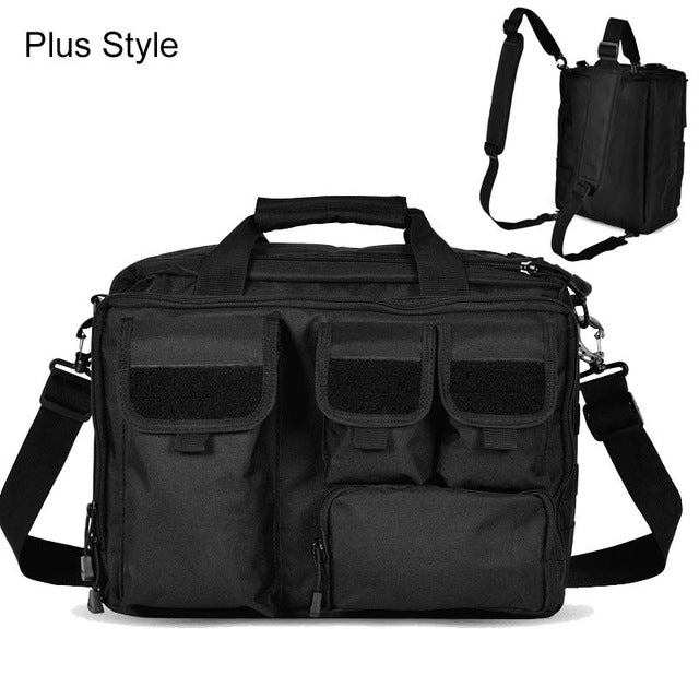 "Military MOLLE Tactical Laptop Messenger 15"" Laptop Shoulder Bag"