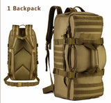 60L Molle Military Outdoor Tactical Shoulder Duffel Backpack