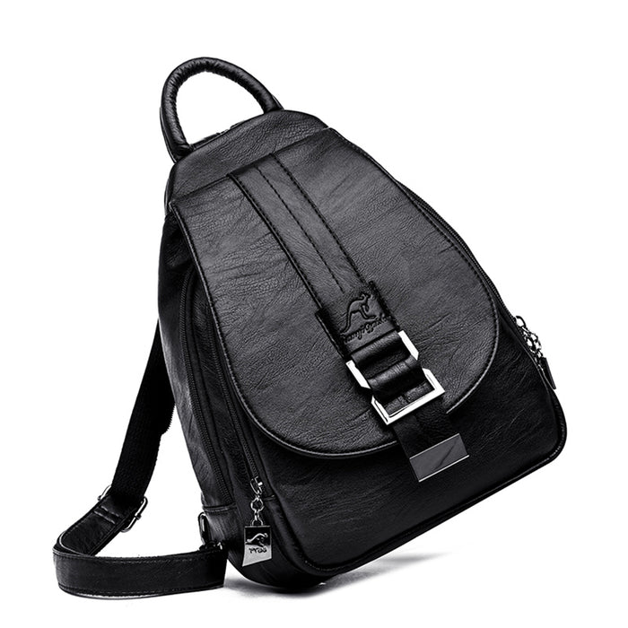 Women's Small Vegan Leather Backpack