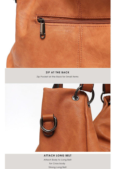 Women's Cruelty Free Vegan Leather Hobo Handbag