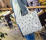 Women's Prism Geometric Casual Tote Handbag