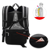"Men's Oxford Trendy Fashion Modern 15"" Laptop Backpack with USB Charging"
