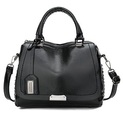 Women's Vintage Vegan Leather Rivet Handbag