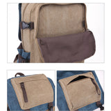 "Women's Large Two Tone Vintage Canvas 17"" Laptop Backpack"
