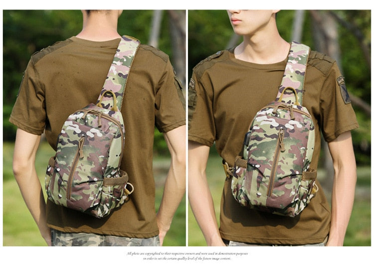 Military Style 5L Sling Backpack with USB Charging