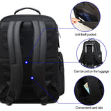 Men's Multi Function Business 15.6 Inch USB Charging Laptop Travel Backpack