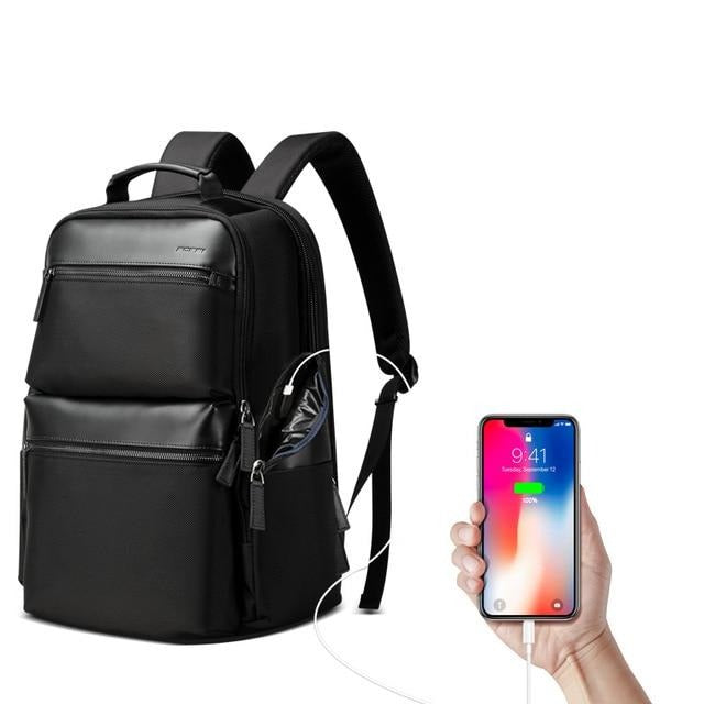 Women's Nylon Waterproof USB Charging 15.6 Inch Laptop Backpack