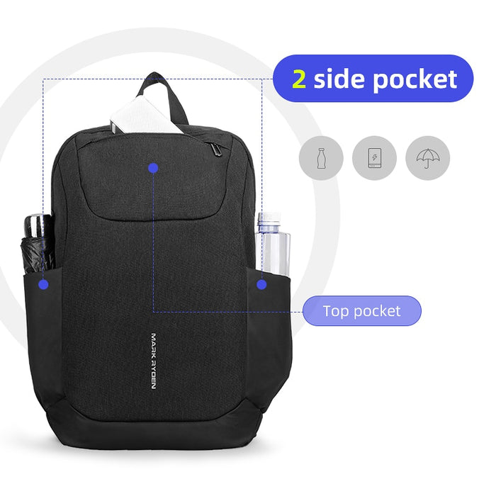 Mark Ryden 15.6 Inch Dual Side Pocket USB Charging Laptop Backpack