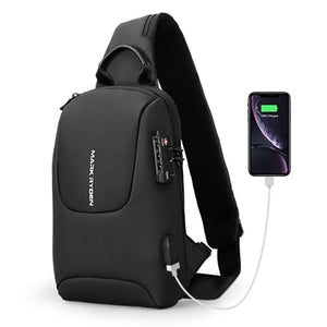 Mark Ryden TSA Approved Lock USB Charging Shoulder Sling Backpack