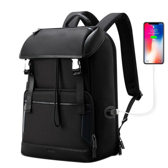 Large Capacity Top Loaded Travel USB Charging Laptop Backpack