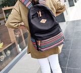 Women's Vintage Retro Canvas Backpack