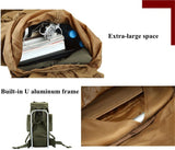 "80L Outdoor Mountaineering Large Capacity Nylon ""U"" Internal Frame Camping Hiking Rucksack"