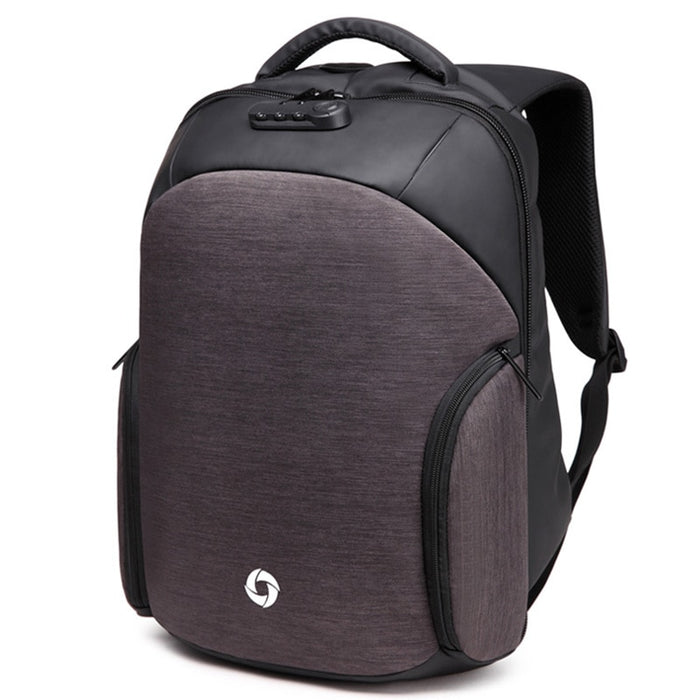 "Men's Medium Anti-Theft 15"" Laptop Backpack with USB Charging and TSA Lock"