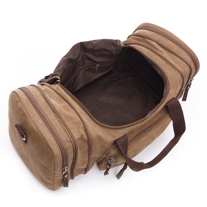 Men's Carry On Canvas Travel Duffel Bag