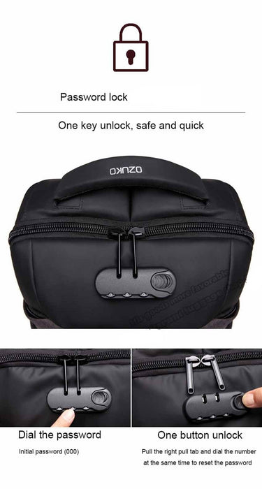 "Women's Oxford Anti-Theft 15"" Laptop Backpack with TSA Lock"