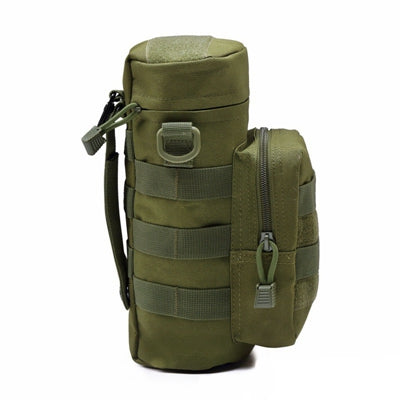 Molle Tactical Water Bottle Attachment with Zipper Pouch