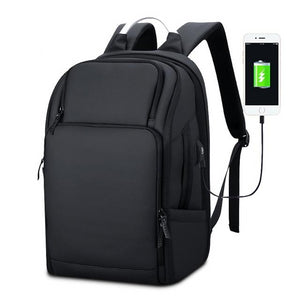 Men's Executive Large Sleek Backpack with USB Charging