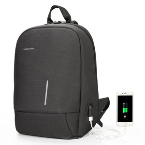 "Kingsons Men's Small Single Shoulder Cross Body 13"" Laptop Backpack with USB Charging"