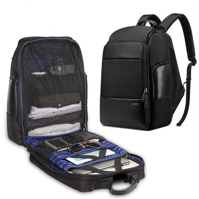 Men's Upscale Large 17 Inch Laptop USB Charging Backpack