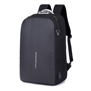 Men's Anti-Theft Backpack with USB Charging and Lock