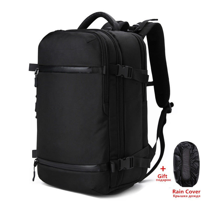 "Men's Large Capacity Travel Backpack 17"" 20"" Laptop w/ Built In Rain Cover"