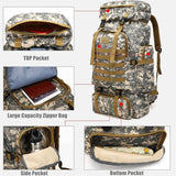 80L Large Military MOLLE Tactical Army Backpack Rucksack