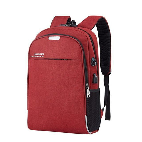 Anti-Theft Laptop Backpack With USB Charging and Lock