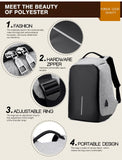 Original Anti-Theft Backpack With USB Charging