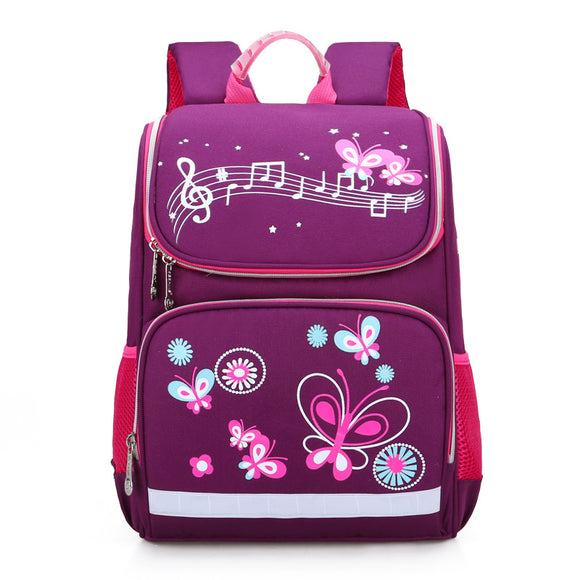 Girls 'Music and Butterflies' School Backpack