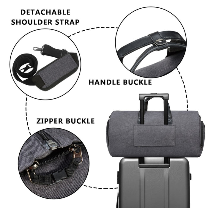High Capacity Travel Carry On Roll Up Garment Barrel Duffel Bag