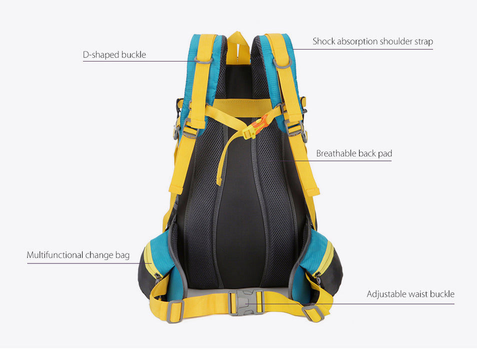 Free Knight 30L Nylon Waterproof Hiking Mountaineering Backpack