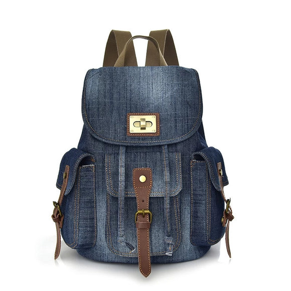 Women's Vintage Denim Backpack