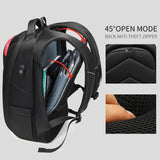 "Men's Modern Euro Nylon Anti-Theft 15"" Laptop Backpack with USB Charging"