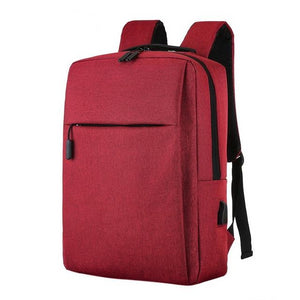 "Square Anti-Theft 15"" Laptop Backpack With USB Charging"