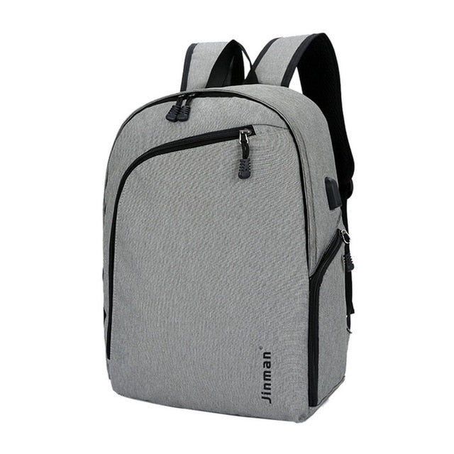"Modern Anti-Theft 15"" Laptop Backpack With USB Charging"