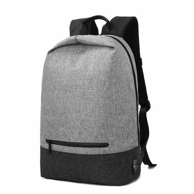 Men's Waterproof Casual Backpack with USB Charging
