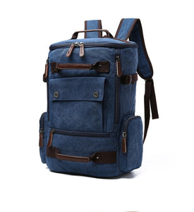 Men's Classic Canvas Travel Backpack
