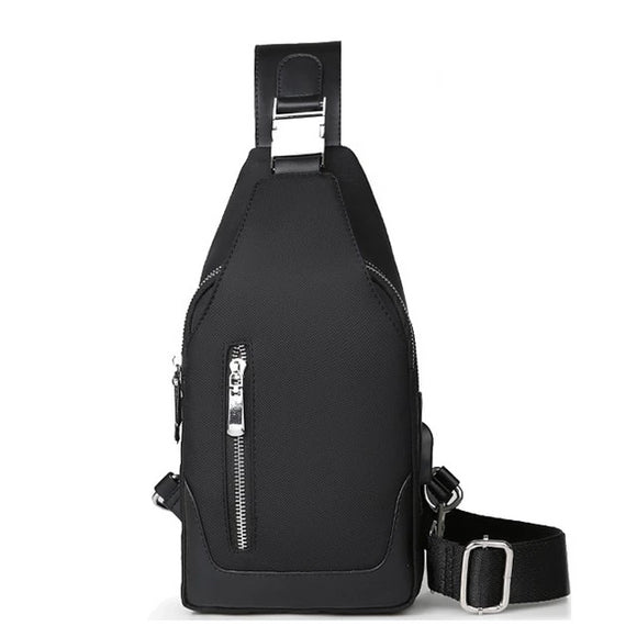 Men's Small Messenger Crossbody Bag with USB Charging