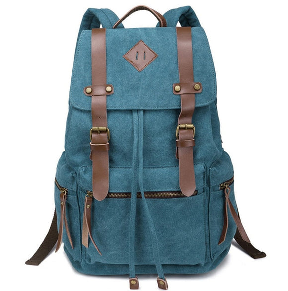 Women's Vintage Canvas Backpack School Laptop Bag