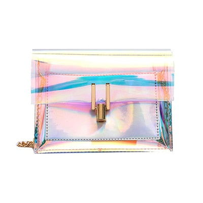 Women's Small Laser Clear Transparent Crossbody Shoulder Bag