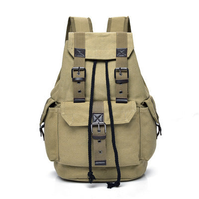 Men's Canvas Vintage School Backpack