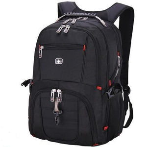 Swiss Design Large Capacity Anti-Theft Travel Backpack with USB Charging