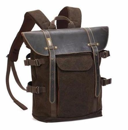 Medium Tan Hyde Explorer Travel Photographer Backpack
