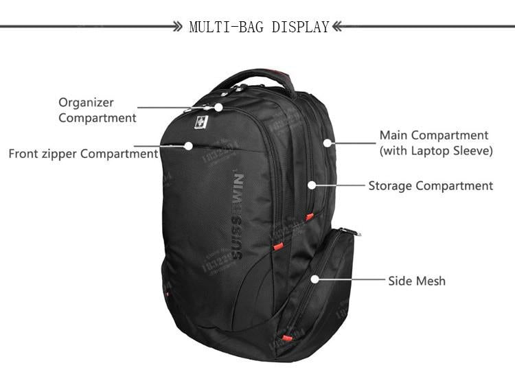Swiss Design Medium Anti-Theft Travel Backpack