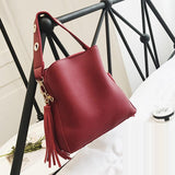 Women's Small Vintage Bucket Shoulder Bag