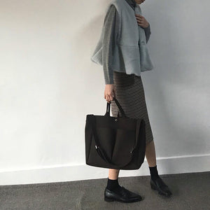 Women's Vegan Leather Big Casual Tote
