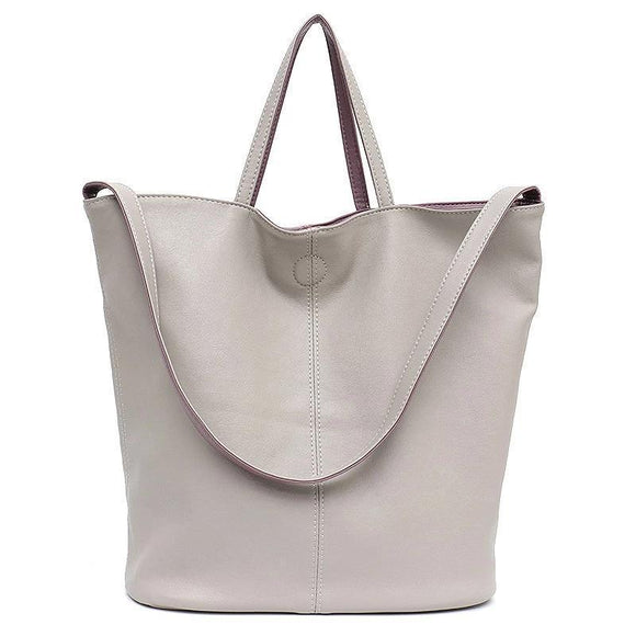 Women's Reversible Soft Cruelty Free Material Vegan Leather Tote Handbag